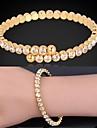 U7® Women's Trendy Fashion Jewelry 18K Real Gold Platinum Plated Fancy Cuff Bracelet Bangle with Austrian Rhinestone Christmas Gifts