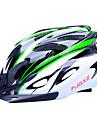 fjqxz 18 aberturas de eps + pc verde e preto integralmente-moldados capacete ciclismo (56-63cm)