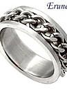 cadenas de metal anillo de acero de titanio eruner®unisex
