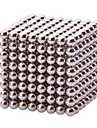 Buckyball Magnet Toys 512Pcs 3mm Executive Toys Magic Magnet DIY Balls Magnetic Balls Cube Puzzle Silver