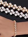 u7® высокое качество красивый кубический циркон 18K реального позолоченные римский браслет браслет для женщин