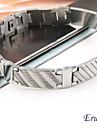 pulseira de titanio de aco padrao de listras da eruner®men (prata)