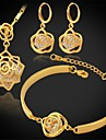 Ensemble de bijoux Zircon cubique Zircon Platine Plaque or Argent Dore Set de Bijoux Mariage Soiree Quotidien Decontracte SportsColliers