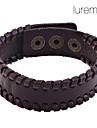 Lureme®Simple Leather Braided Bracelet