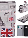 For Samsung Galaxy Case Card Holder / with Stand / Flip / Pattern / Magnetic Case Full Body Case Flag PU Leather Samsung A5