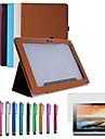 """folde pu læder tilfælde dække stå for 10,1 """"Lenovo S6000-HFG tablet + pen + film (assorterede farver)"""