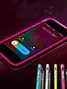 Lncoming Call LED Blink Transparent TPU Back Cover Case for iPhone 6 (Assorted color)