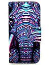 KARZEA™ Elephants Tribe PU Leather TPU Back Painting Card Holder Wallet Case with Oval Bucklefor iPhone 6