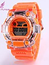 Women\'s Round Dial Plastic Rubber Quartz Wristwatch (Assorted Colors)
