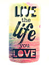 Live Life You Love Design Pattern Hard Case Cover for Samsung Galaxy Trend Lite S7390/S7392