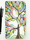 KARZEA™Life Tree PU Leather Full Body Case Painting Card Holder Wallet Case with Stylus for Samsung Grand Prime G530H