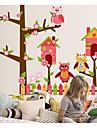 Τα αυτοκόλλητα τοίχου κουκουβάγια σπίτι κινουμένων σχεδίων