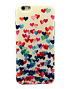 Colorful Heart Pattern TPU Soft Cover for iPhone 6/6S