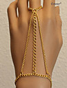 Eruner®New Rock Punk Chain Bracelet Ring Set Cross Charm Triangle Style Finger