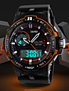 Men\'s Fashion Sporty Design Dual Time Zones Rubber Band Wrist Watch (Assorted Colors)