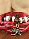 Bracelet Bracelets de tennis Bracelets d\'amitie Bracelets Bracelets Vintage Bracelets en cuir Bracelets de rive Alliage Cuir BoisSoiree