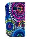 Для Кейс для  Samsung Galaxy Бумажник для карт / со стендом / Флип / С узором Кейс для Чехол Кейс для Цветы Искусственная кожа Samsung