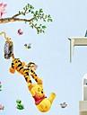 Животные / Мультипликация / Романтика / Натюрморт / Мода Наклейки Простые наклейки Декоративные наклейки на стены,PVC материал Съемная