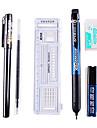 Наборы пишущих для экзаменов (линейка, гелевая ручка, карандаш, ластик, картридж)