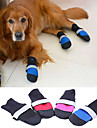 Dog Shoes & Boots Keep Warm Solid Black Rose Red Blue