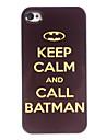 mantenere la calma e chiamare in alluminio modello batman caso duro per il iphone 4 / 4s
