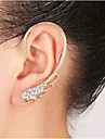 Ear Cuffs Rhinestone Alloy Birthstones Wings / Feather Silver Golden Jewelry Wedding Party Daily Casual 1pc