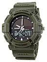 SKMEI® Men's Sporty Watch Solar Power Analog-Digital Calendar/Chronograph/Dual Time Zones/Alarm Black Rubber Strap Cool Watch Unique Watch
