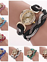 Women's Ellipse Diamond Dial Two-tone Rhinestone Band Quartz Analog Fashion Bracelet Watch (Assorted Color) Cool Watches Unique Watches