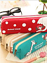 Cute Cartoon Pula Girl Canvas Pencil Bag Random Color