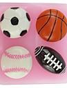 баскетбол футбол НФЛ в форме помады торт шоколадный силиконовые формы, кекс украшения инструменты, l6cm * w6.1cm * h1.8cm