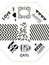 Nail Art Stamp Stamping Image Template Plate QA Series NO.91