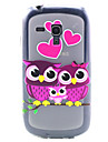Love Owl Pattern TPU Relief Back Cover Case for Samsung Galaxy S3 Mini I8190