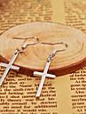 Серьга Крестообразной формы Серьги-слезки Бижутерия 1 комплект Повседневные Сплав Женский Серебряный