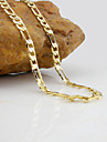 Necklace Chain Necklaces Jewelry Wedding / Party / Daily / Casual Fashion Gold Plated Silver 1pc Gift