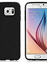 용 삼성 갤럭시 케이스 Other 케이스 뒷면 커버 케이스 단색 실리콘 Samsung S6