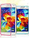 Pour Samsung Galaxy Coque Clapet Transparente Coque Coque Intégrale Coque Couleur Pleine PUT pour Samsung S5