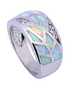 High Quality White Zircon Fashion Color Opal Ring