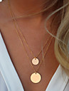 Women\'s Statement Necklaces Alloy Fashion Simple Style Golden Jewelry Wedding Party Daily Casual 1pc