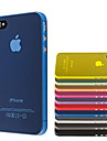 Ultra Thin PC Transparent Case Cover for iPhone 4/4S(Assorted Colors)