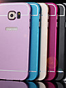 For Samsung Galaxy Case Shockproof Case Back Cover Case Solid Color Acrylic Samsung S6 edge