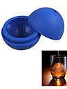 силиконовые кубик льда лоток плесень льдогенератор мяч форма для бара партии фестиваль (синий)
