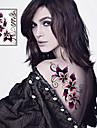 Sexy Flowers Tattoo Stickers Temporary Tattoos(1 Pc)