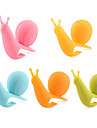 Attractive & Cute Snail Shape Silicone Tea Bag Holder (Multicolor) (5PCS/Pack)