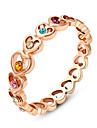 Массивные кольца Кристалл Имитация Алмазный Сплав Мода Простой стиль Бижутерия Свадьба Для вечеринок 1шт