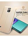 Para Samsung Galaxy Note Com Suporte / com Visor / Flip Capinha Corpo Inteiro Capinha Cor Unica Couro PU Samsung Note 4