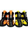 Hunde Schuhe und Stiefel Wasserdicht Winter Fruehling/Herbst einfarbig Orange Gelb Gummi