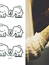 2016 New  Painting Waterproof Temporary Elephant Tattoo Paste,3PCS