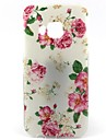 White Bottom Rose Pattern Soft TPU Case for HTC M9/HTC One M9