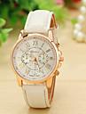 Vigilanza 12 colori cinturino in pelle di nuovo modo di Ginevra guarda le donne vestono orologi da polso al quarzo orologi Relojes