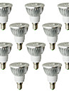 6W E14 LED Spot Lampen 4 High Power LED 530-580 lm Warmes Weiss AC 100-240 V 10 Stueck